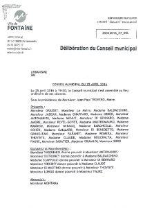 Icon of Déliberation Conseil municipal avis sur la modification N°2