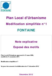 Icon of PLU modification simplifiée N°1
