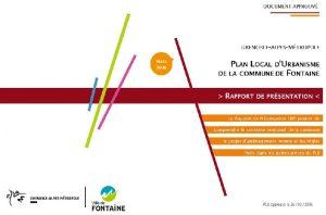 Icon of Rapport de présentation PLU