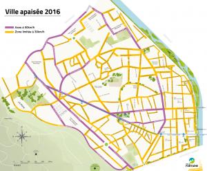Carte ville apaisée