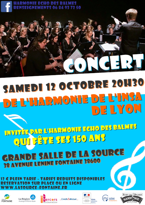 L'Harmonie Écho des Balmes invite l'Harmonie de l'INSA Lyon