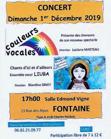 """Concert """"Couleurs Vocales"""""""