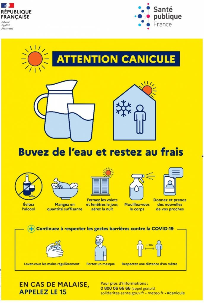 Canicule infographie